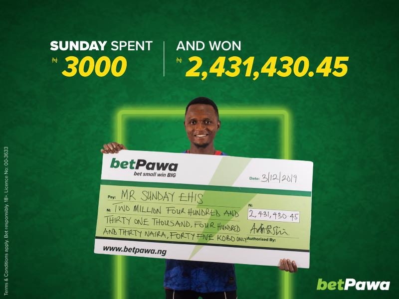 Nigerian betPawa customer wins ₦2,431,430.45 with two late goals